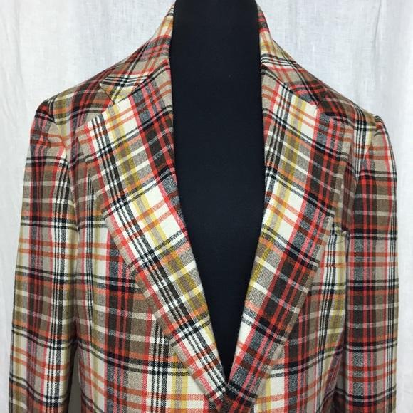 Vintage Suits Blazers 975 Austin Reed Wool Plaid Vintage Blazer Poshmark